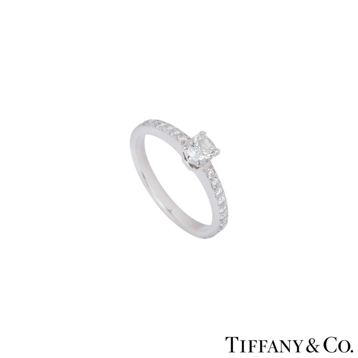 Tiffany & Co. Platinum Diamond Ring 0.33ct G/VS1
